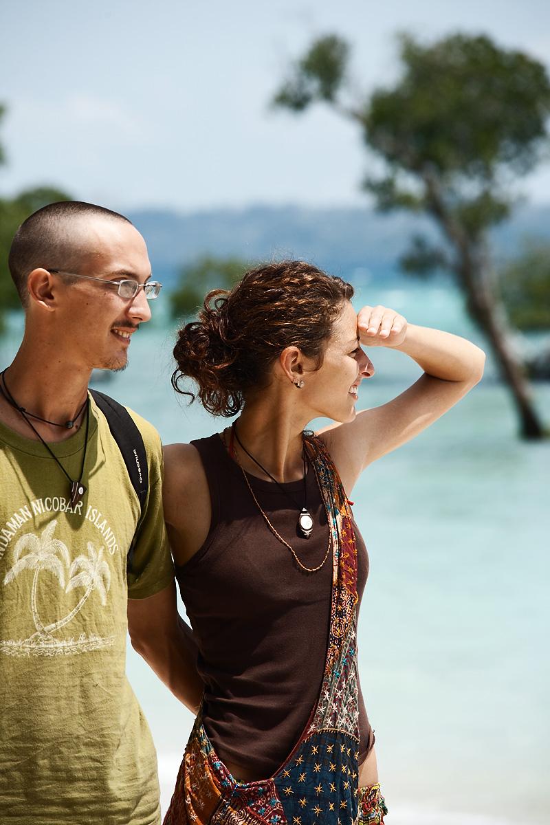 Budget Travel Friends Nico Marie - Neil Island, Andaman, India - Daily Travel Photos