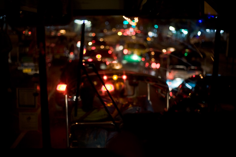 Bus Blurred Traffic - Bangkok, Thailand - Daily Travel Photos