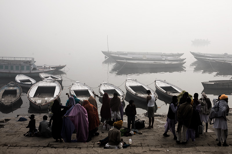 Ganges Boats Ride Pilgrims Morning - Varanasi, Uttar Pradesh, India - Daily Travel Photos