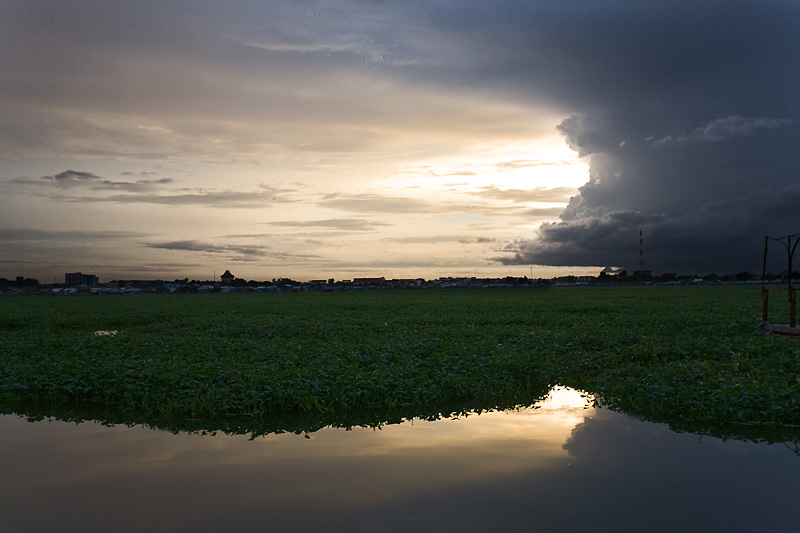 Lake Clouds Dramatic Weather - Phnom Penh, Cambodia - Daily Travel Photos