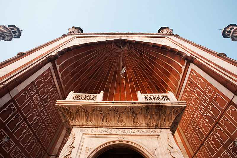 Jama Masjid Main Mosque Entrance Minarets - Delhi, India - Daily Travel Photos