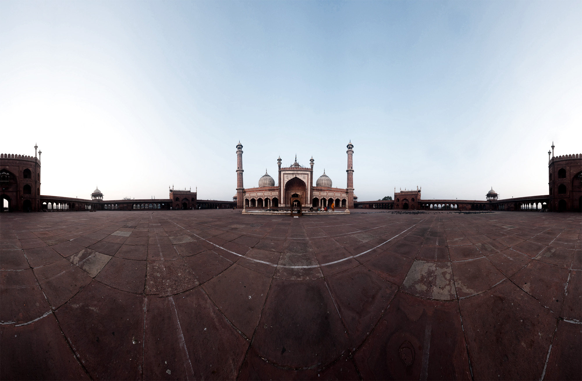 Jama Masjid Panorama Composite Photo - Delhi, India - Daily Travel Photos