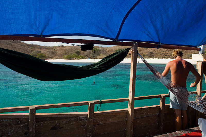 Hammocks Sleeping Arrangements Chris Blue Waters Boat Safari - Komodo Island, NTT, Indonesia - Daily Travel Photos