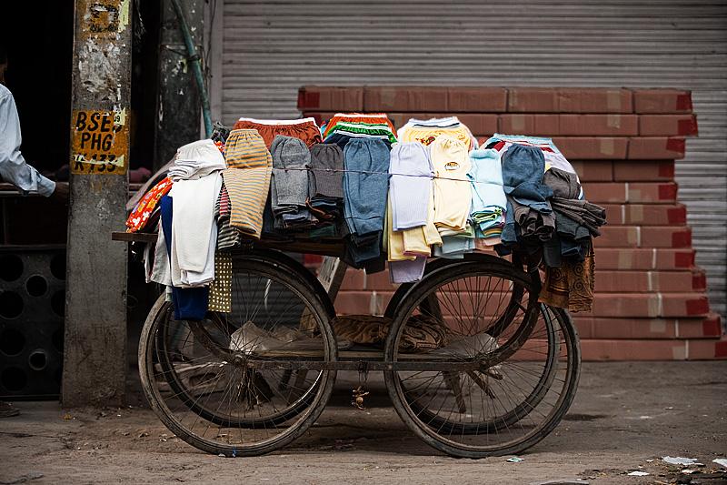 Cart Legwarmer Underwear Seller - Delhi, India - Daily Travel Photos