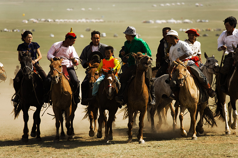 Nadaam Festival Horse Racing Winner Touch Horse Child - Ulaan Baatar, Mongolia - Daily Travel Photos