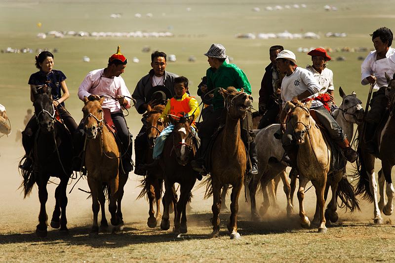 Nadaam Festival Horse Racing Winner Touch Horse Child - Ulaan Baatar, Mongolia - Daily Travel Photos