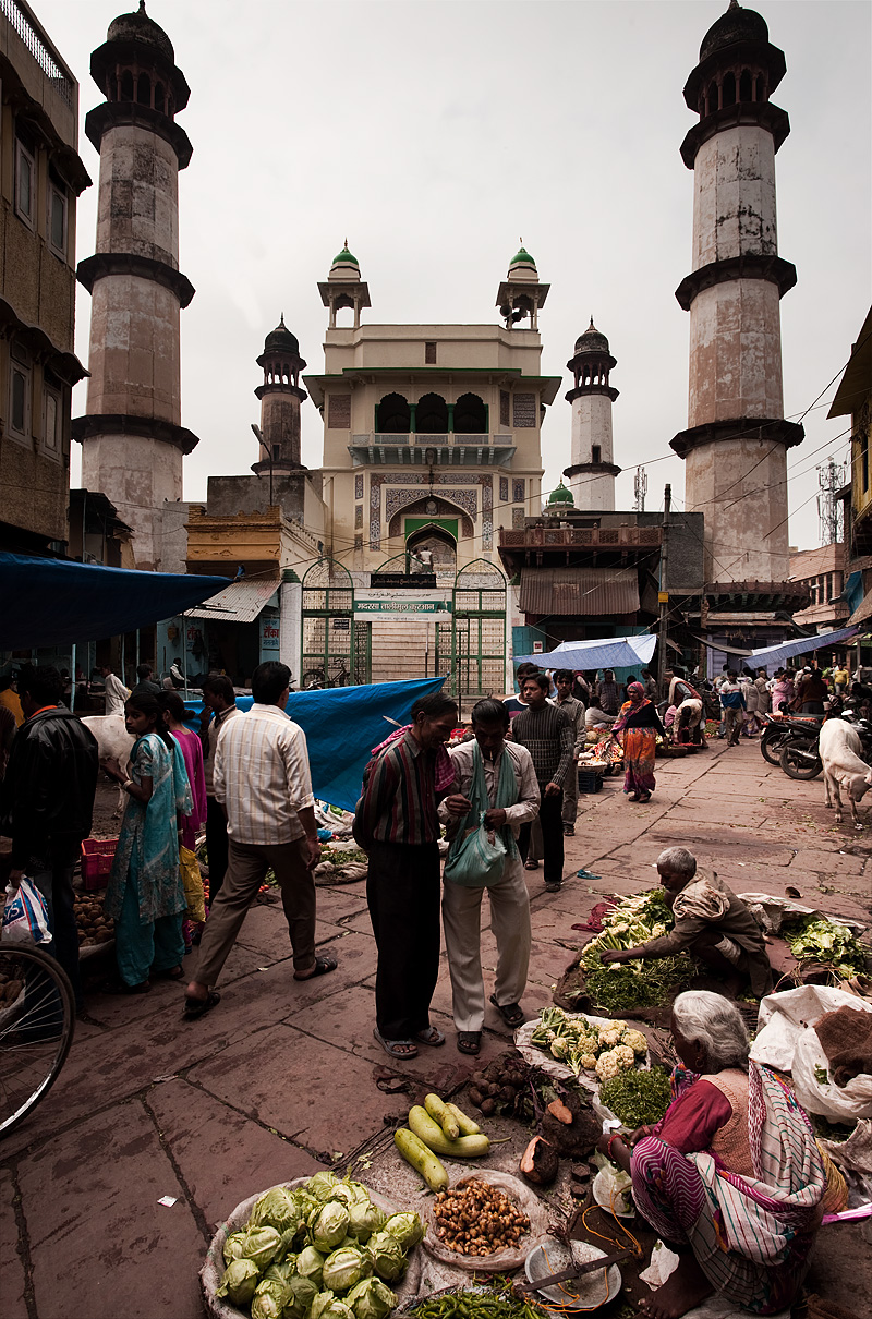 A small non-touristy mosque located in the Mathura bazaar. - Mathura, Uttar Pradesh, India - Daily Travel Photos