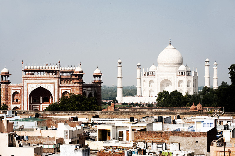 Rooftops of the local neighborhood south of the Taj Mahal. - Agra, Uttar Pradesh, India - Daily Travel Photos