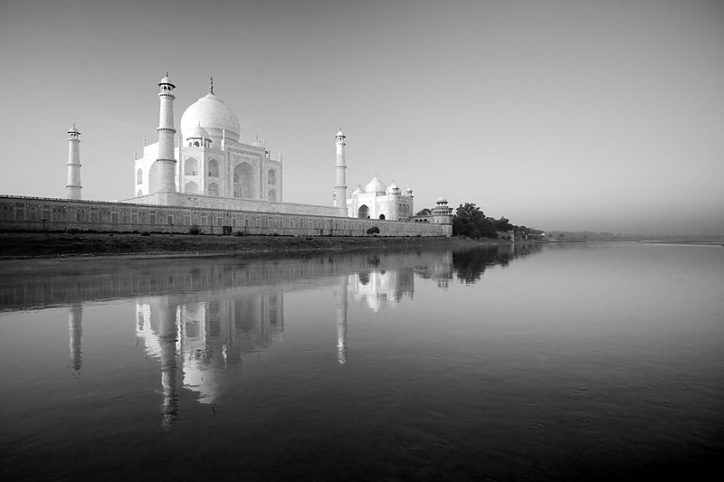 The rear of the Taj Mahal seen from a boat on the Jamuna River. - Agra, Uttar Pradesh, India - Daily Travel Photos
