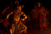 Hanuman:  Monkey God Photo: From the Hindu epic, the Ramayana, the monkey god, Hanuman is seen escaping a firey trap to save the princess, Sita from her kidnapper.
