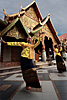Barefooted Dance Photo: Northern Thai traditional dancers at Wat Phrathat Doi Suthep during what was supposed to be a monk filled celebration for the Thai new year of Songkran.  The monks never materialized, but as you can guess by the dark clouds, torrential rain did.
