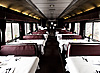 Dining Car Photo: A lone dining car manager waits for hungry passengers on an Amtrak train from San Francisco to Vancouver.
