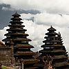 Two Towers Photo: Roofs & Wall at Besakih Temple, a major Hindu temple complex in Bali.