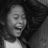 Laughs (Miao Minority II) Photo: Miao minority girls yucking it up.