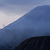 Cones (Caldera II) Photo: The three active volcanoes of Mt. Bromo.