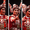 Fierce Face Photo: A Chinese Opera company came rolling into town, much like a traveling circus, complete with frightening characters in exaggerated makeup sans bulbous red noses.  There are only two things I fear in life:  A land war in Asia and the unholy grin of a circus clown.  Today I add to my list of fears:  Chinese opera performers.