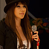 Detroit Photo: Smoke and fire billow out of somewhat unsafe props as our Japanese-Korean singer casually walks away.