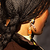 Braided Photo: A Tibetan woman's intricately braided hair.