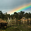 photo: Cloudy Landscape - A lovely rustic village lies at the end of the rainbow.