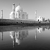 Watery Rear Photo: The rear of the Taj Mahal seen from a boat on the Jamuna River.