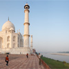 Taj Mahal North East Photo: A panorama of the northeast corner of the Taj Mahal overlooking the Jamuna River.