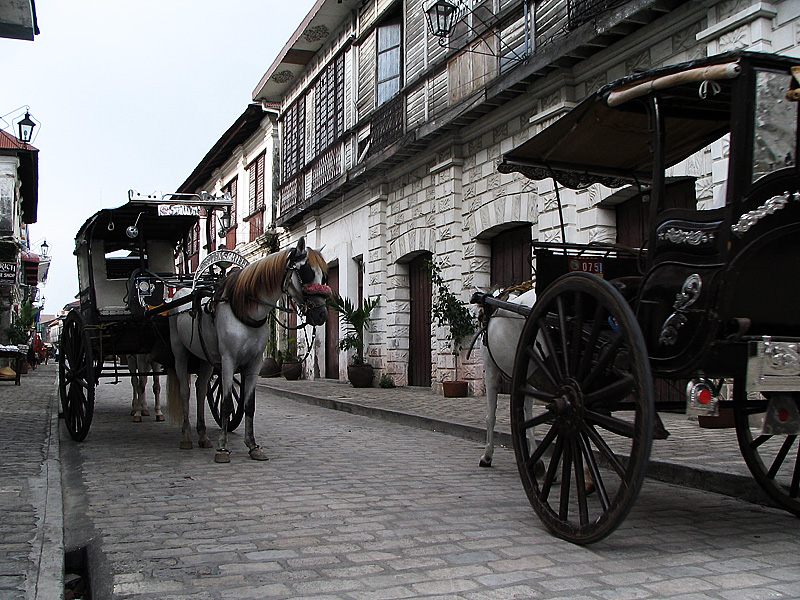 A beautiful cobbled road in the historic part of town. - Vigan, Philippines - Daily Travel Photos