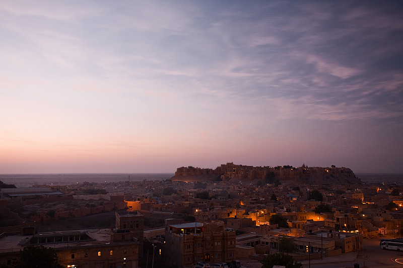 A sunrise photo of the fort and city. - Jaisalmer, Rajasthan, India - Daily Travel Photos