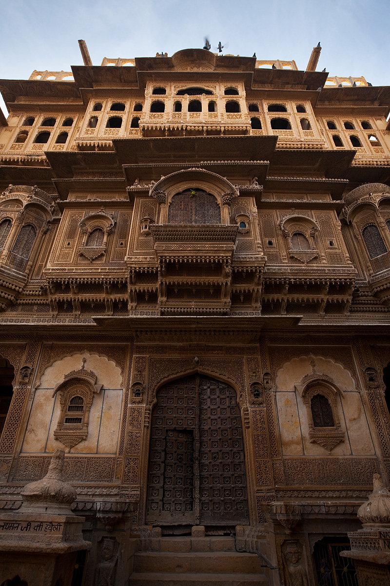 The front facade of the Nathmal-Ki-Haveli home. - Jaisalmer, Rajasthan, India - Daily Travel Photos