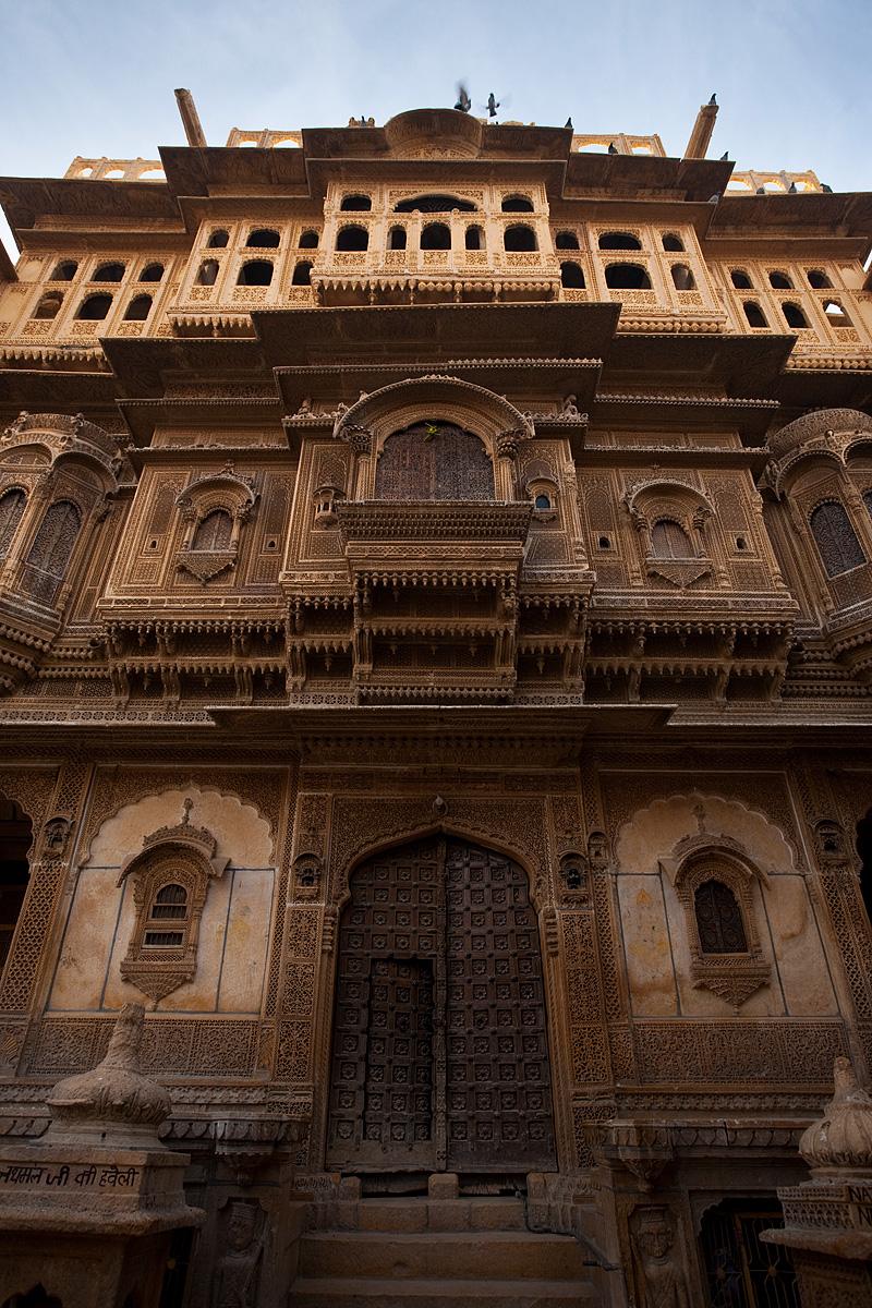 The front facade of the Nathmal-Ki-Haveli home. - Jaisalmer, Rajasthan, India - Daily Travel Photos