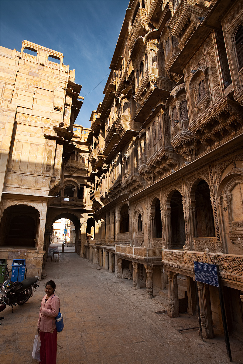 The front facade of the Patwa-Ki-Haveli home. - Jaisalmer, Rajasthan, India - Daily Travel Photos