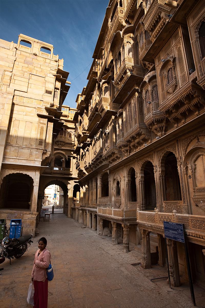 The front facade of the Patwa-Ki-Haveli home. - Jaisalmer, Rajasthan, India - Daily Travel Photos