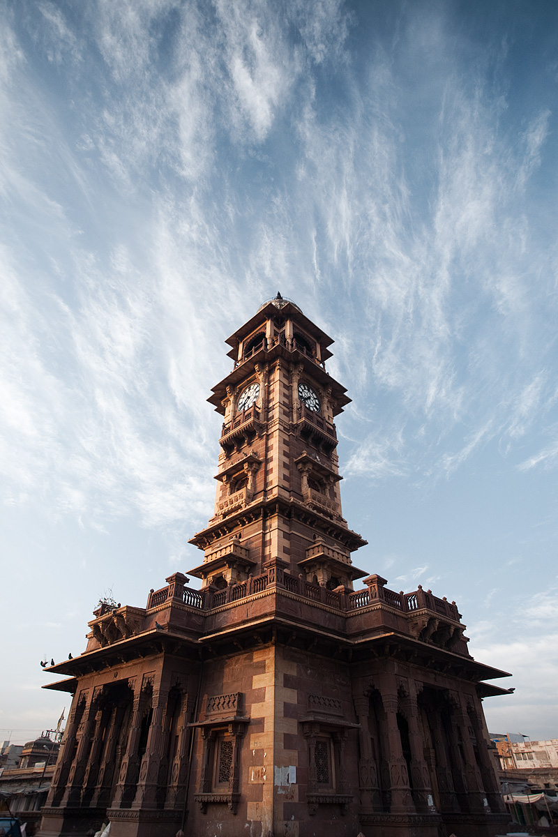 The old clock tower of Jodhpur stands in the center of its main market. - Jodhpur, Rajasthan, India - Daily Travel Photos