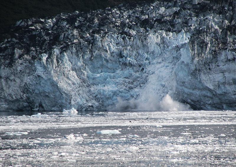 House-sized chunks of ice fall into the frigid waters of Glacier Bay. - Glacier Bay, Alaska, USA - Daily Travel Photos