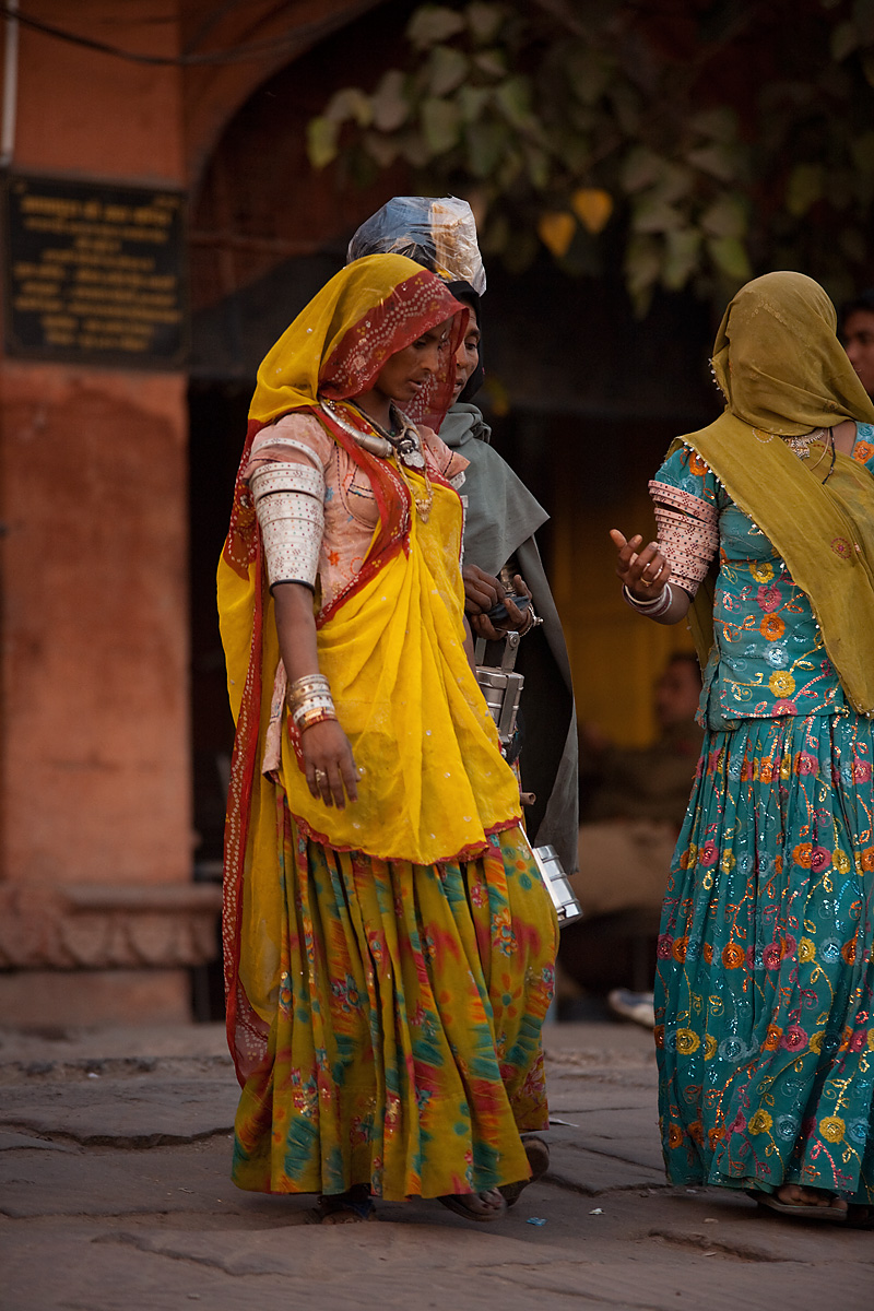Traditional Rajasthani women display their upper armlets. - Jodhpur, Rajasthan, India - Daily Travel Photos