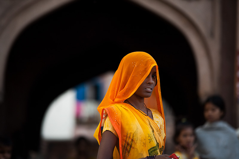The most beautiful Indian woman in Jodhpur. - Jodhpur, Rajasthan, India - Daily Travel Photos