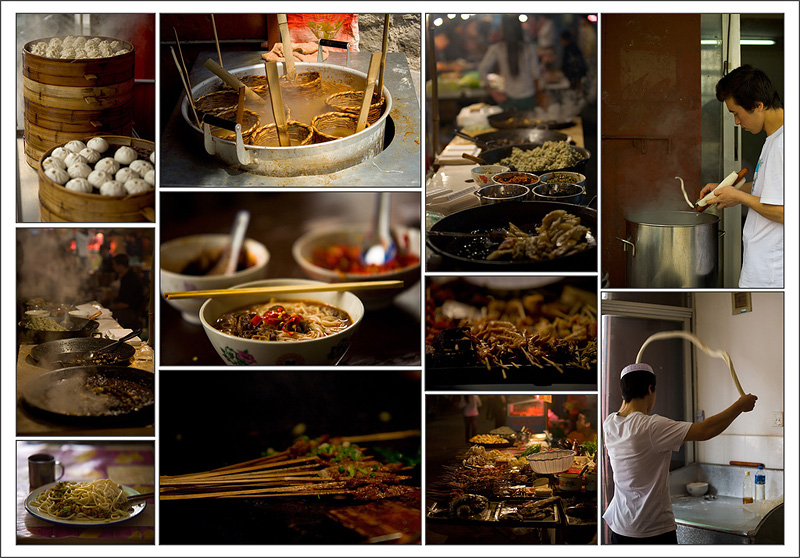 A montage of a variety of Chinese food. - various places, China - Daily Travel Photos