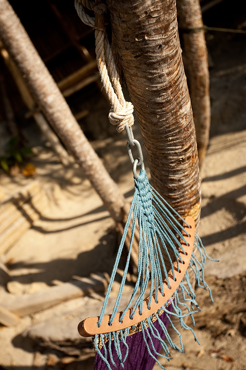 The knotted end of a hammock. - Ko Lipe, Thailand - Daily Travel Photos