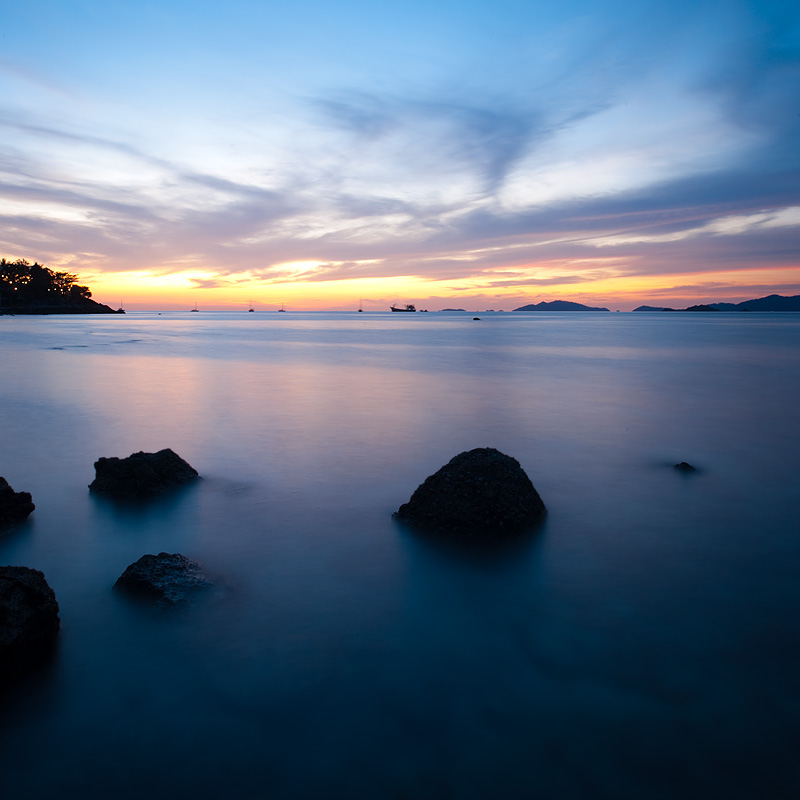Long exposure of the channels that surround paradise island. - Ko Lipe, Thailand - Daily Travel Photos