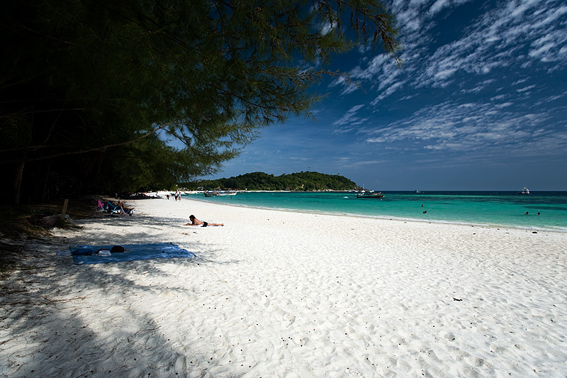 A white sand beach in front of Leepae Resort. - Ko Lipe, Thailand - Daily Travel Photos