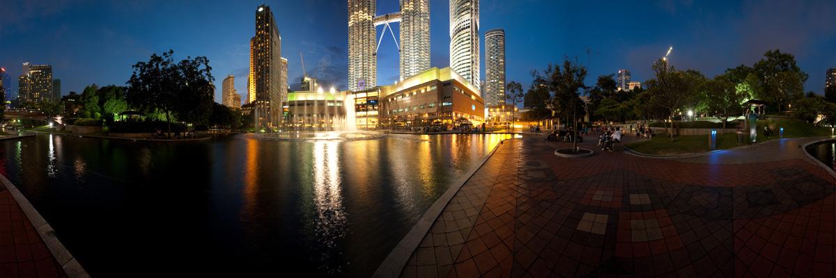 A panorama of the park behind KL City Center (KLCC). - Kuala Lumpur, Malaysia - Daily Travel Photos