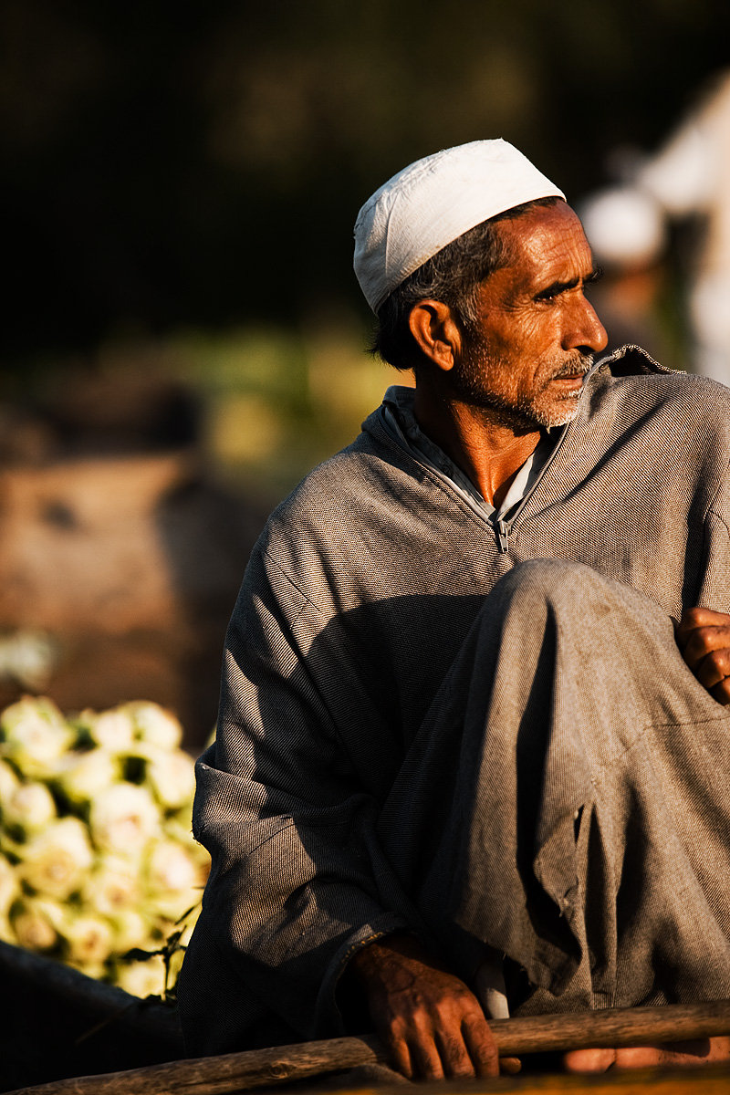 A floating vegetable salesman sells vegetables from his shikara. - Srinagar, Kashmir, India - Daily Travel Photos