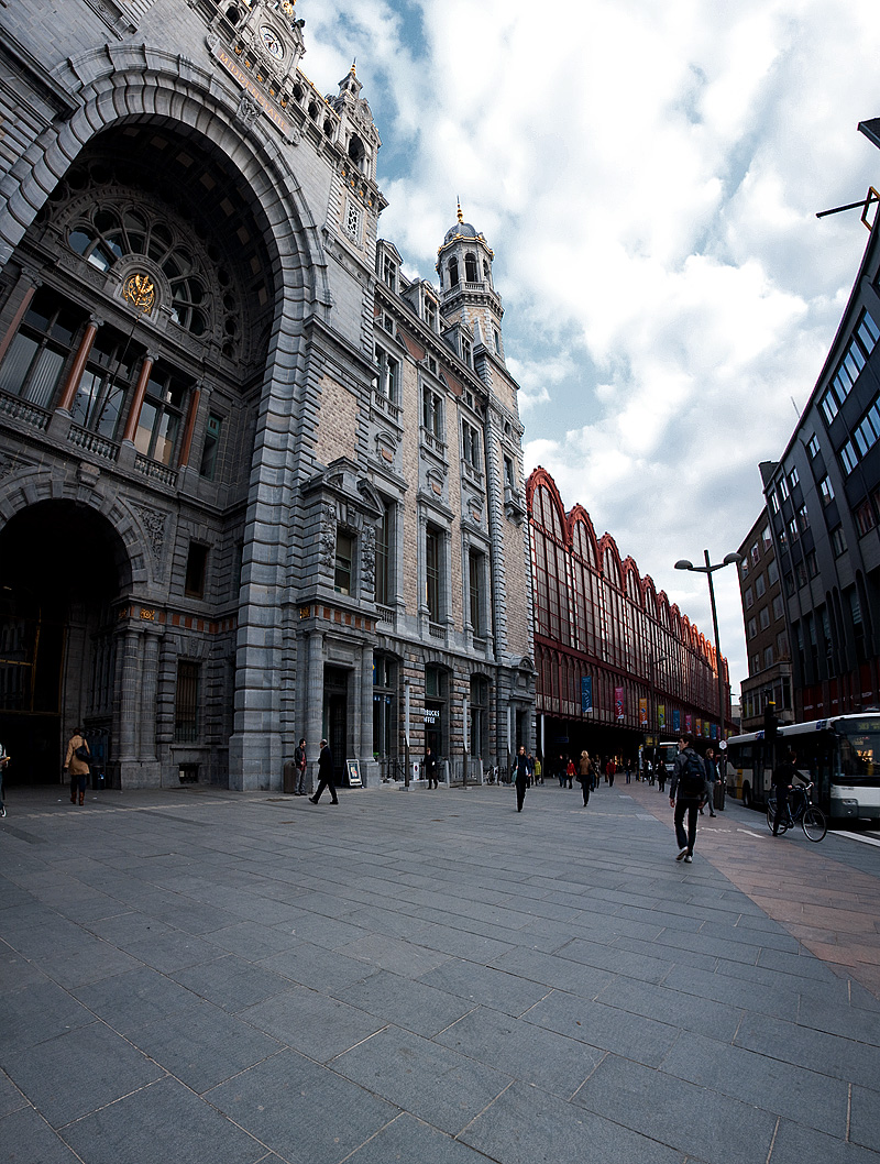 The east entrance of Antwerp Central Station. - Antwerp, Belgium - Daily Travel Photos