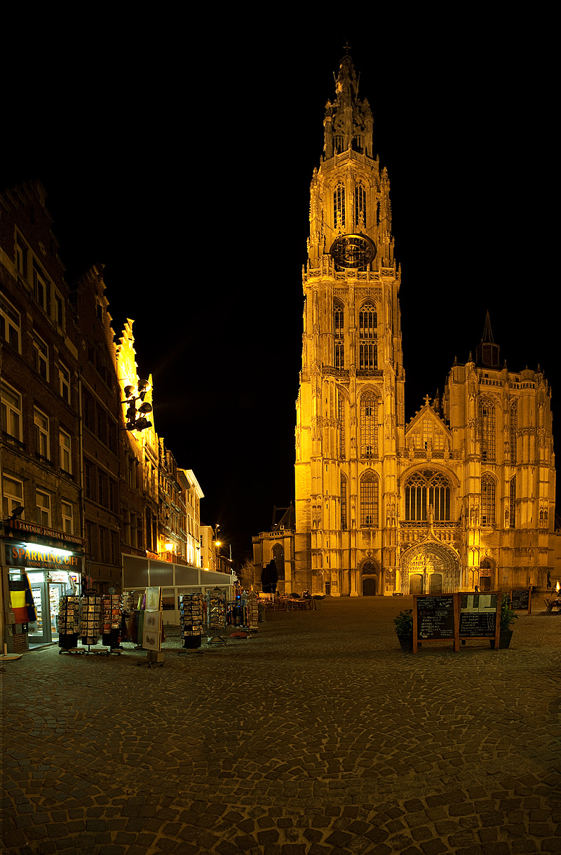The front facade of the Cathedral of Our Lady.  - Antwerp, Belgium - Daily Travel Photos