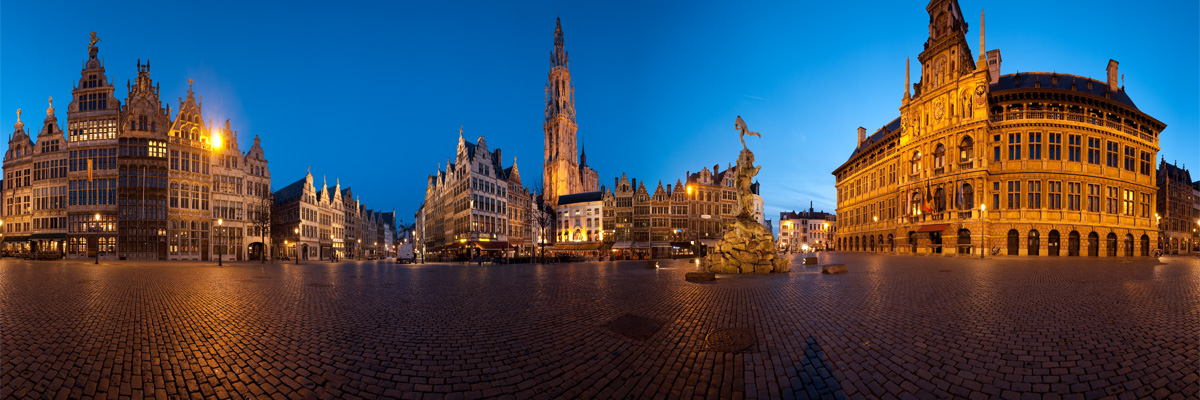 Antwerp's Grote Markt (Great Market) square in 360degree user-controlled panorama. - Antwerp, Belgium - Daily Travel Photos
