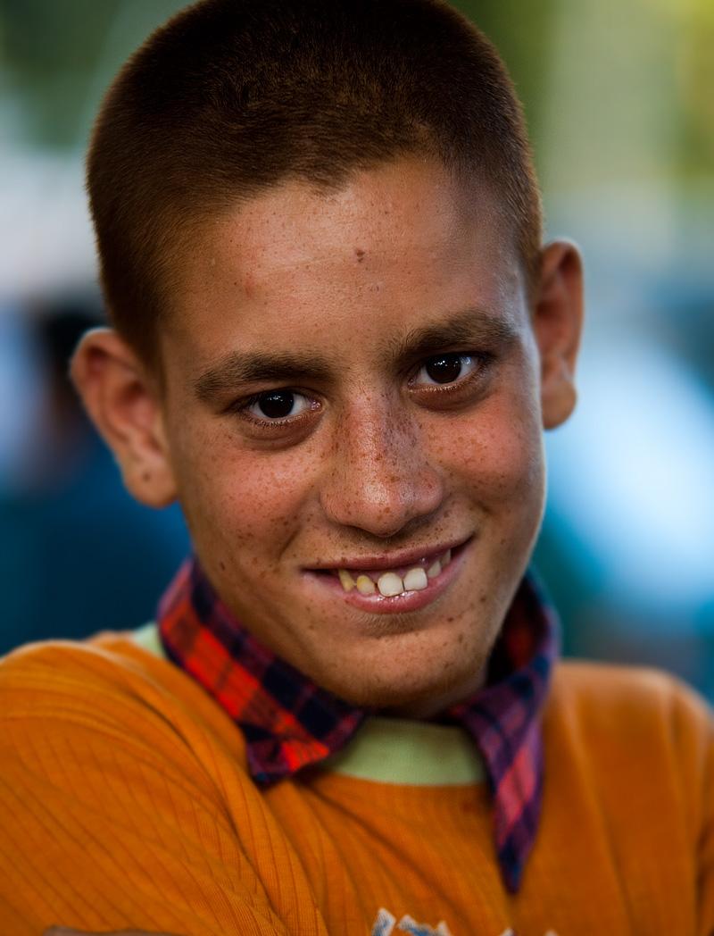 A young Kashmiri redhead poses for a photo. - Srinagar, Kashmir, India - Daily Travel Photos