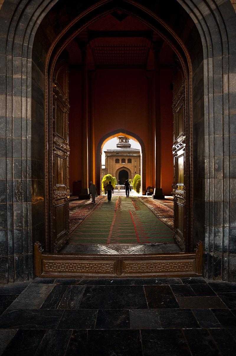 The south entry gate of Jamia Masjid, the Main Mosque. - Srinagar, Kashmir, India - Daily Travel Photos