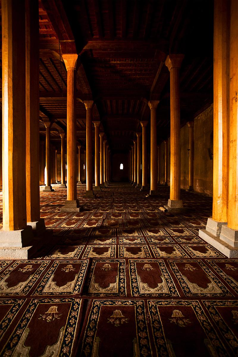 The south hall of Srinagar's Jamia Masjid (Main Mosque). - Srinagar, Kashmir, India - Daily Travel Photos