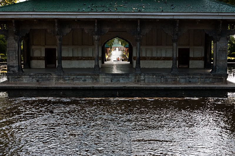 The central pavilion at Shalimar Bagh, Mughal Garden. - Srinagar, Kashmir, India - Daily Travel Photos