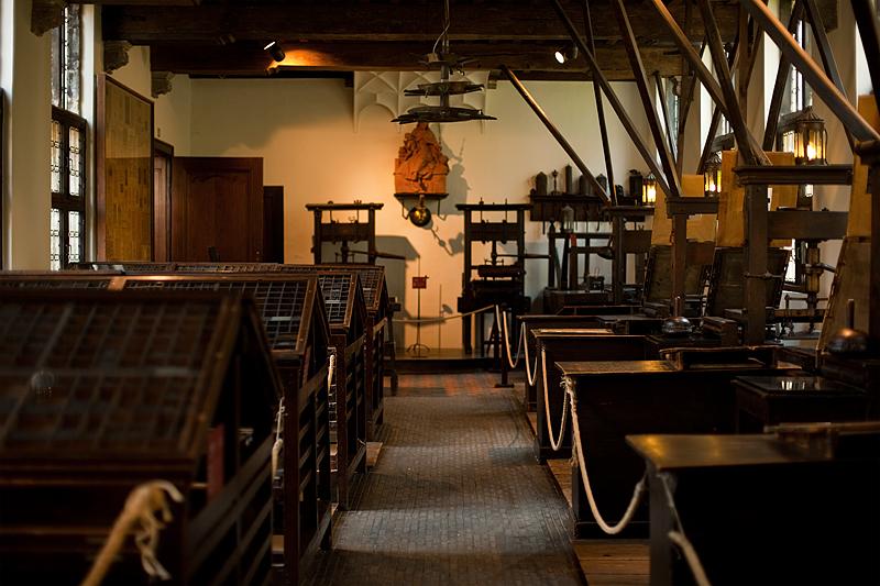 The printing room at the Plantin-Moretus Museum. - Antwerp, Belgium - Daily Travel Photos