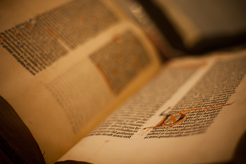 A 36-line Gutenberg bible.  - Antwerp, Belgium - Daily Travel Photos